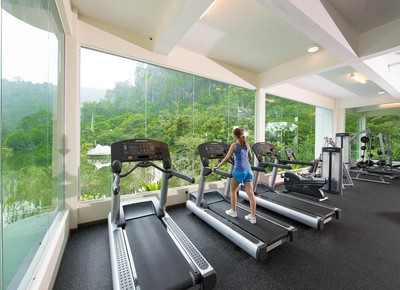 Gym at The Haven Resort Hotel in Ipoh, Malaysia